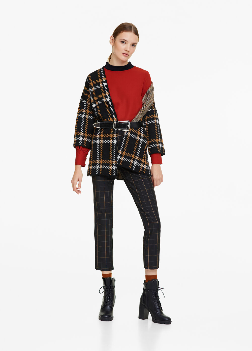 Open cardigan with three-quarter sleeves