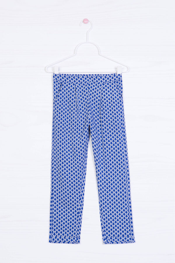 Pantaloni loose fit viscosa stampa