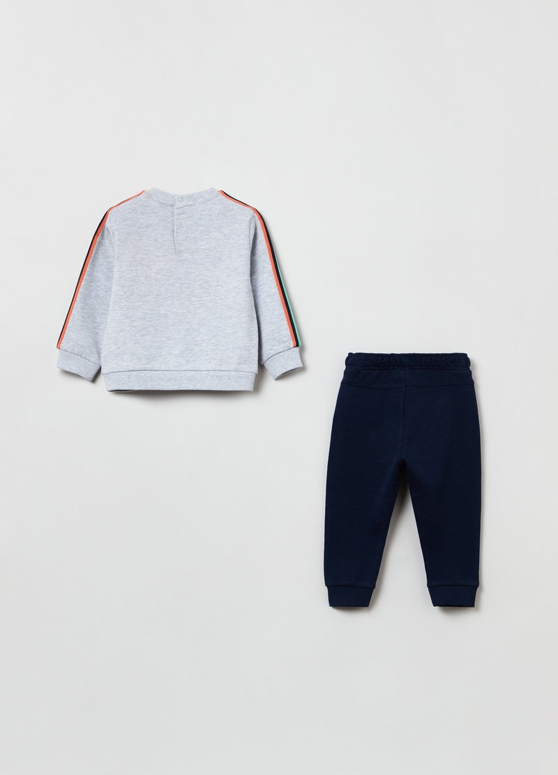 Plush jogging set with digger print image number null