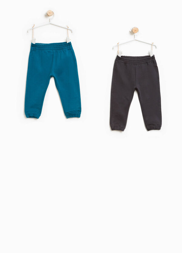 Two-pack solid colour joggers in cotton | OVS