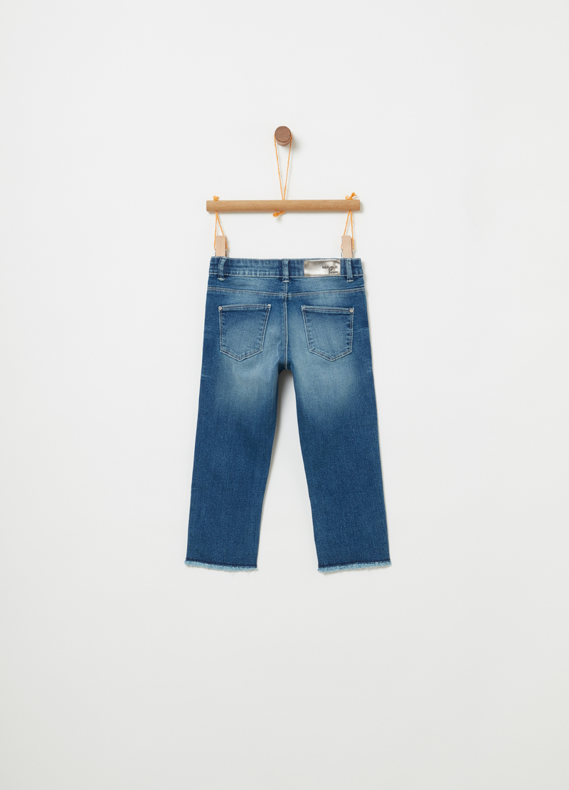 Jeans skinny fit stretch effetto delavato image number null