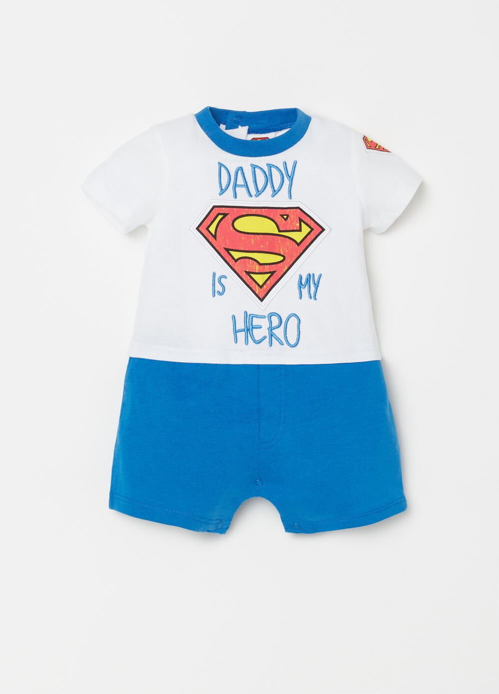 Tutina ricami e patch Superman