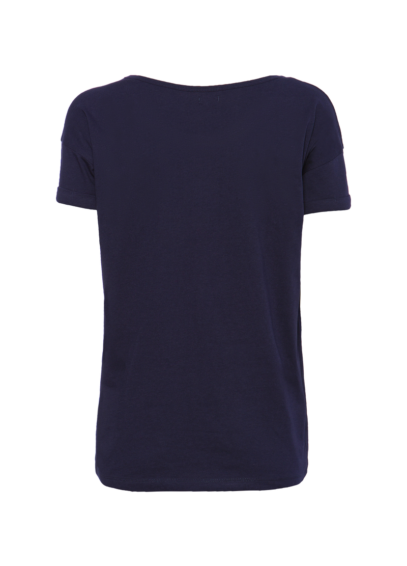 T-shirt cotone strass Smart Basic image number null