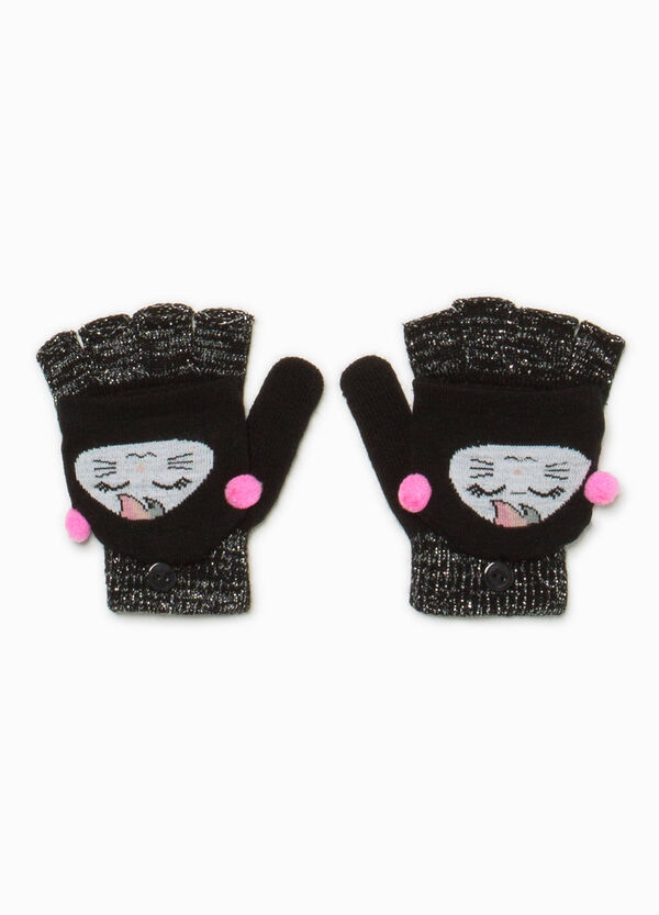 Fingerless knitted gloves with mittens | OVS