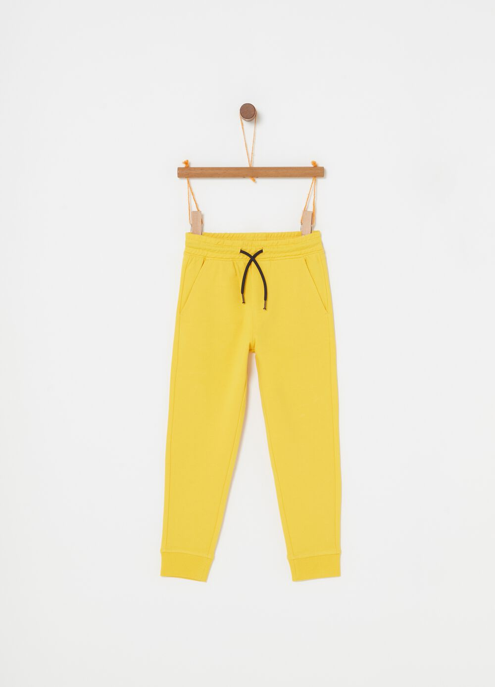 Pantaloni in French Terry biologico tasche