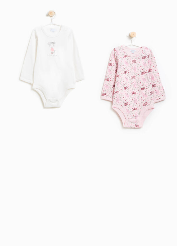 Two-pack bodysuits floral patterned and printed | OVS