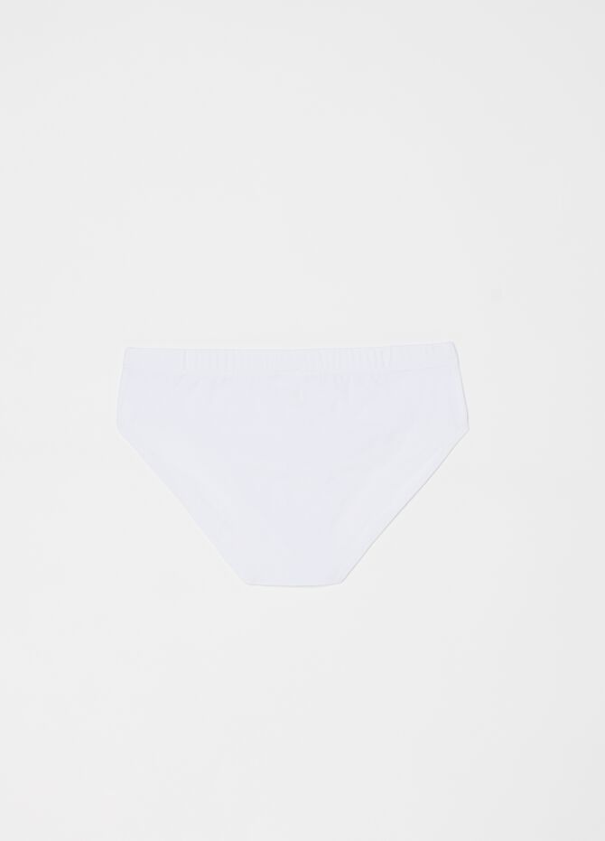 Stretch cotton briefs with elasticated waistband