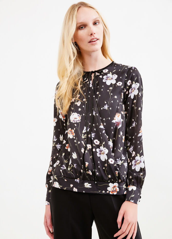 Blusa con stampa floreale all-over