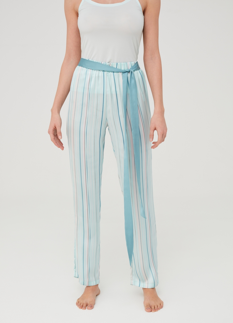 Striped pyjama trousers image number null