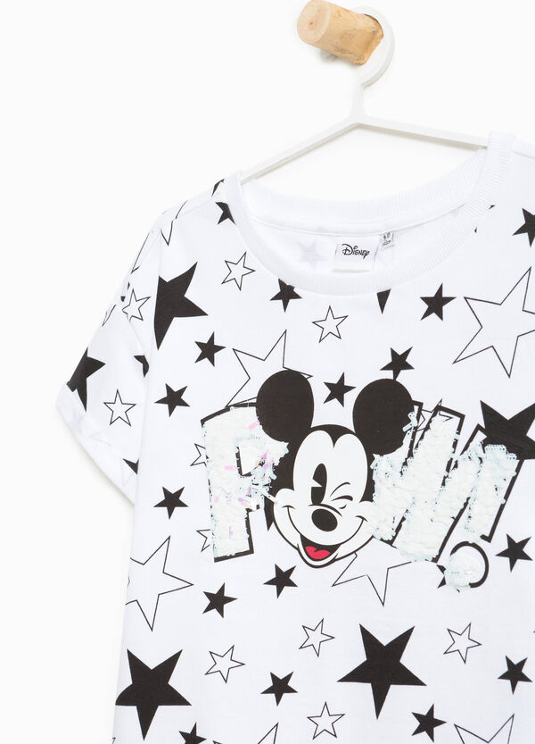 Mickey Mouse print cotton sweatshirt | OVS