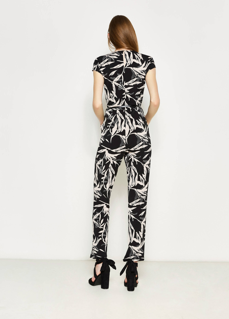 Stretch playsuit with all-over print image number null
