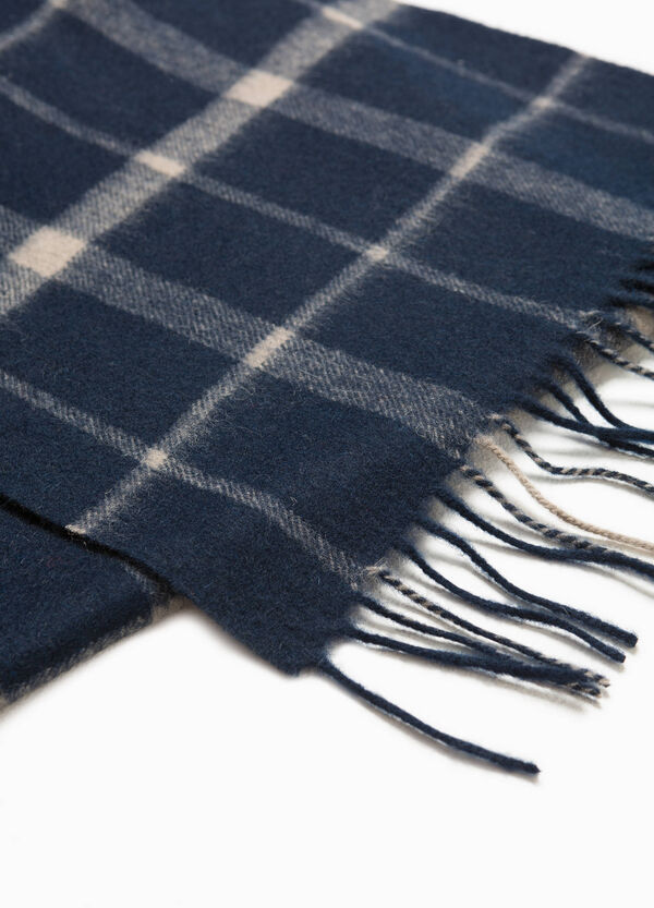 100% wool check scarf | OVS