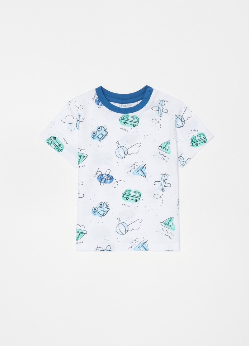 Short pyjamas with aeroplanes pattern image number null