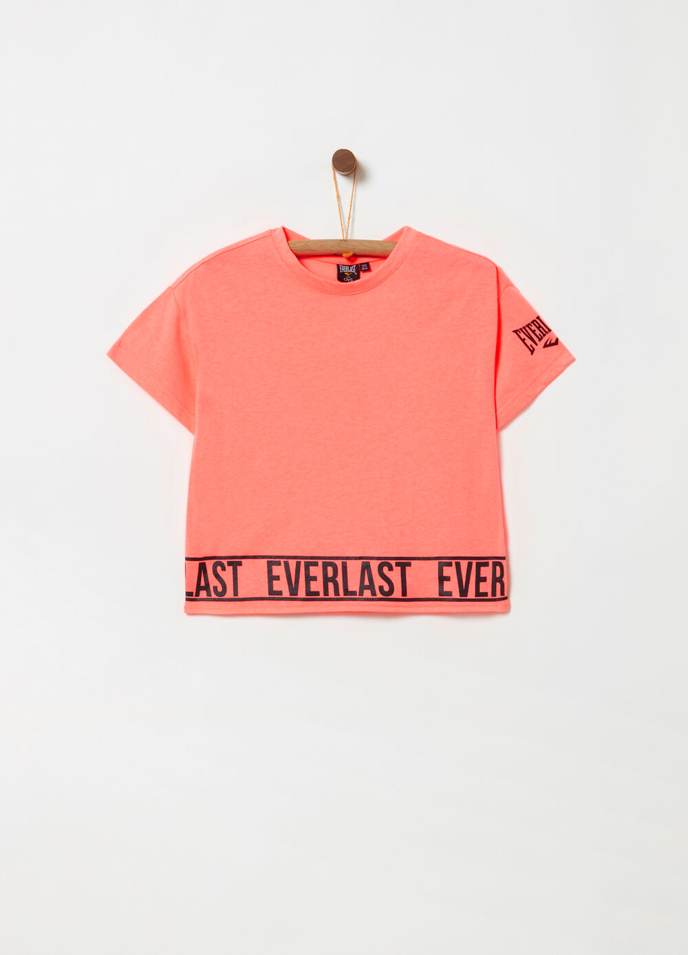 Everlast cropped T-shirt with glitter print