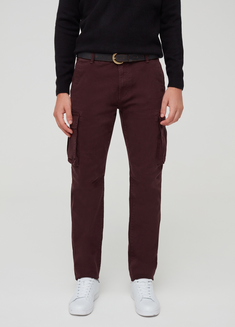 Pantaloni cargo stretch con tasche image number null