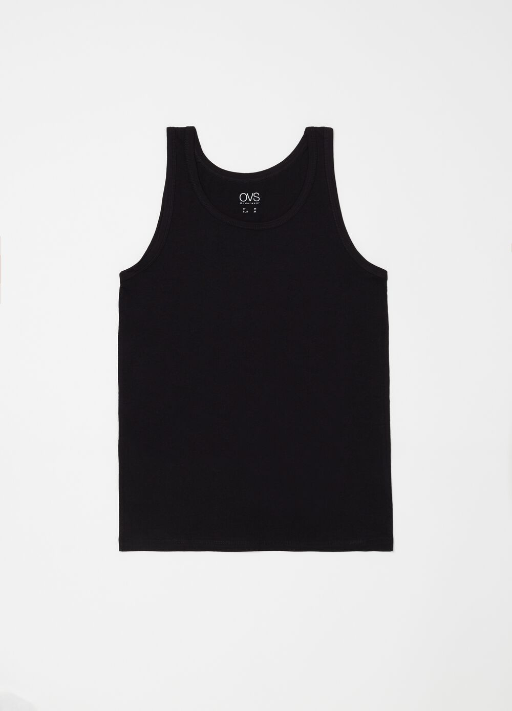 Three-pack racerback vests with round neck