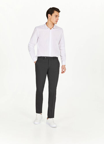 Pantaloni slim fit viscosa stretch