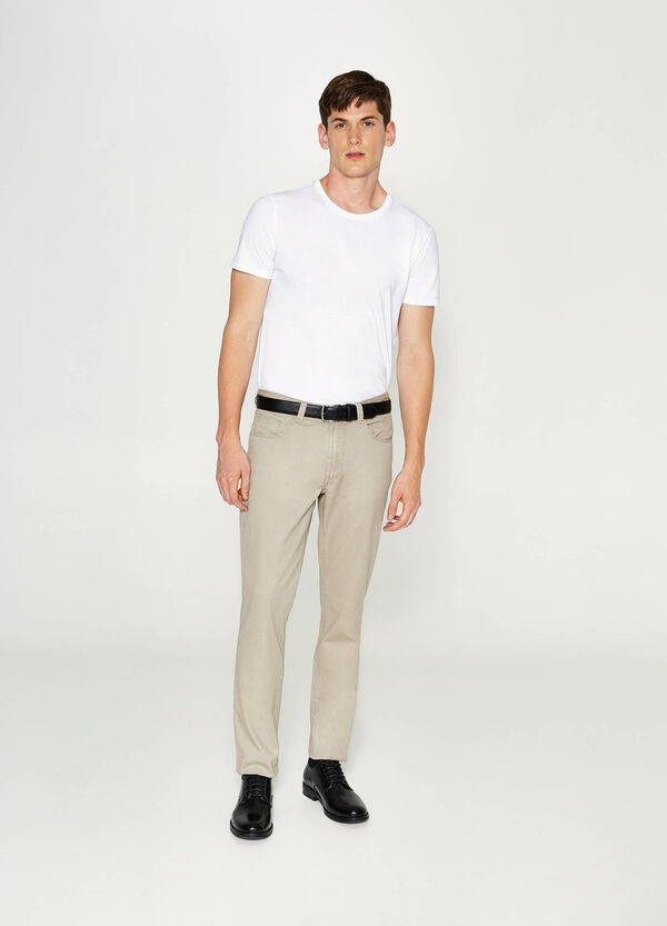 Cotton regular-fit trousers | OVS