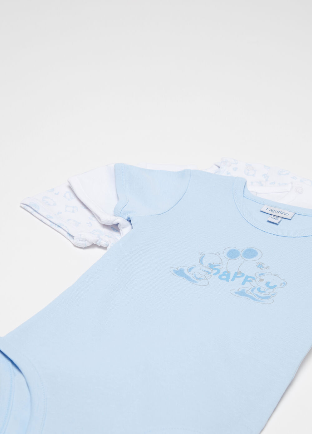 Three-pack bodysuits in 100% cotton with animals
