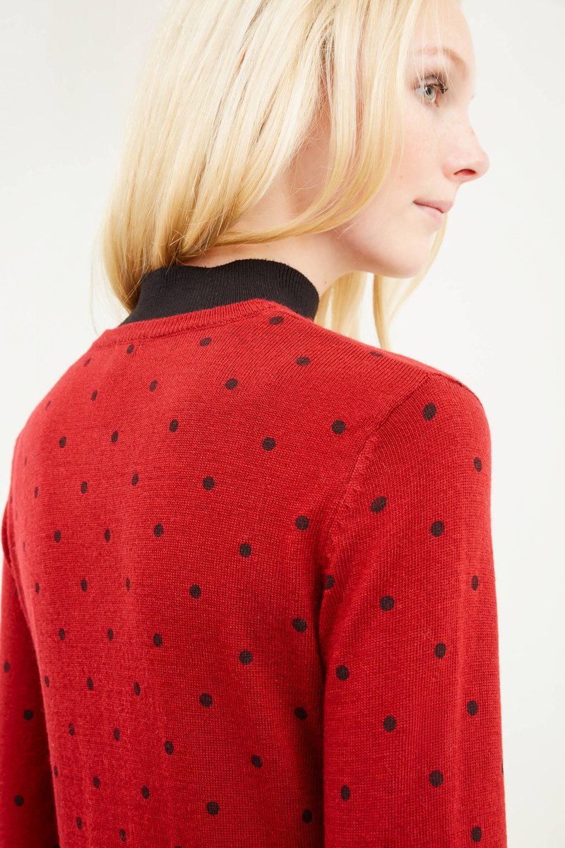 Wool skirt with polka dot pattern image number null