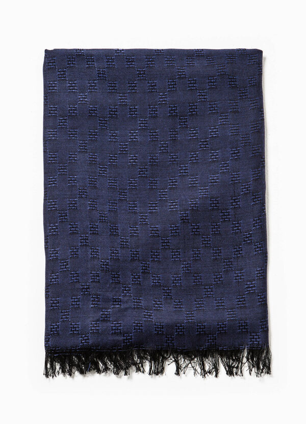 Jacquard scarf with raised weave | OVS