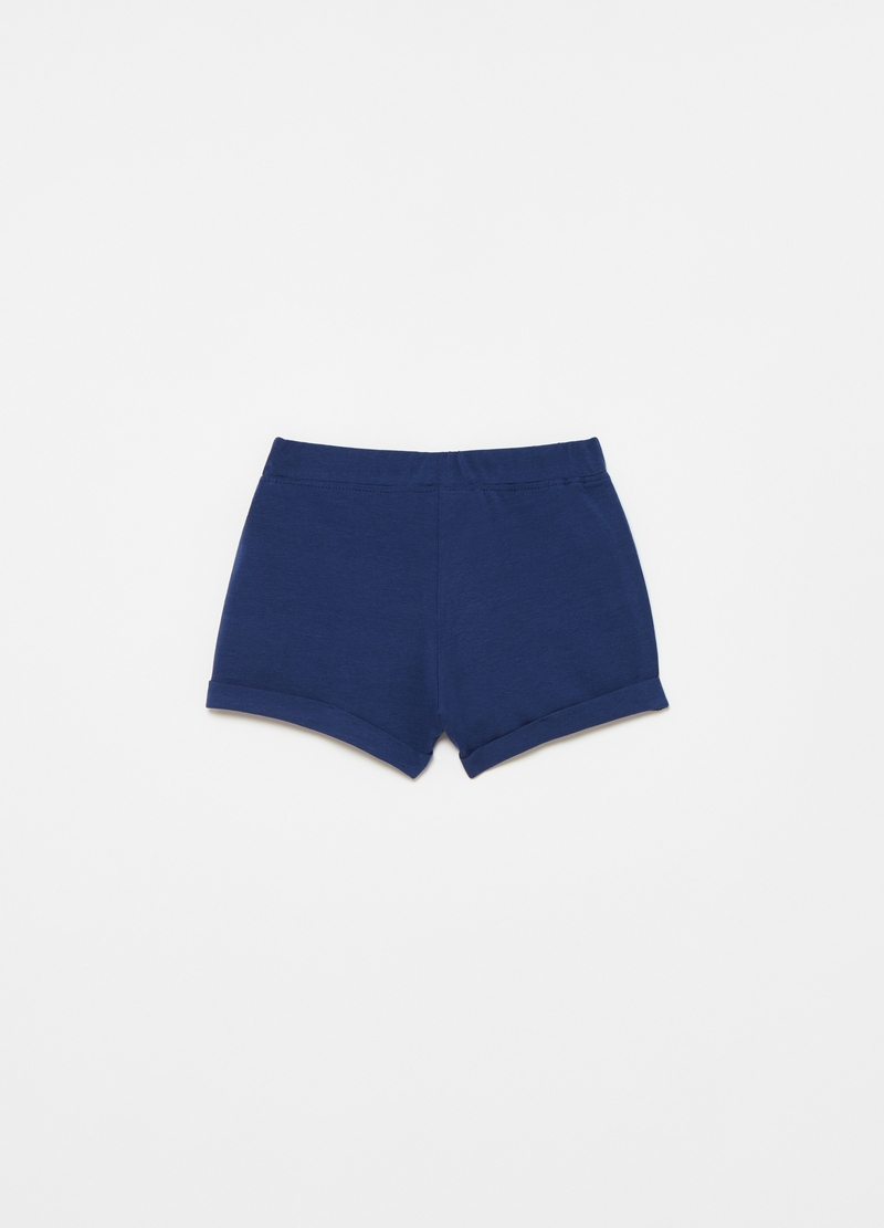 Stretch cotton shorts with bow image number null