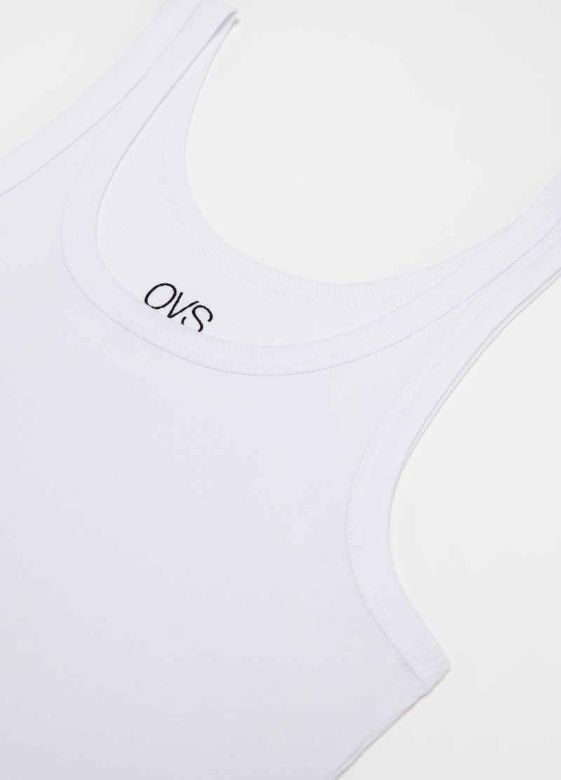 100% cotton racerback vest with spaghetti straps image number null