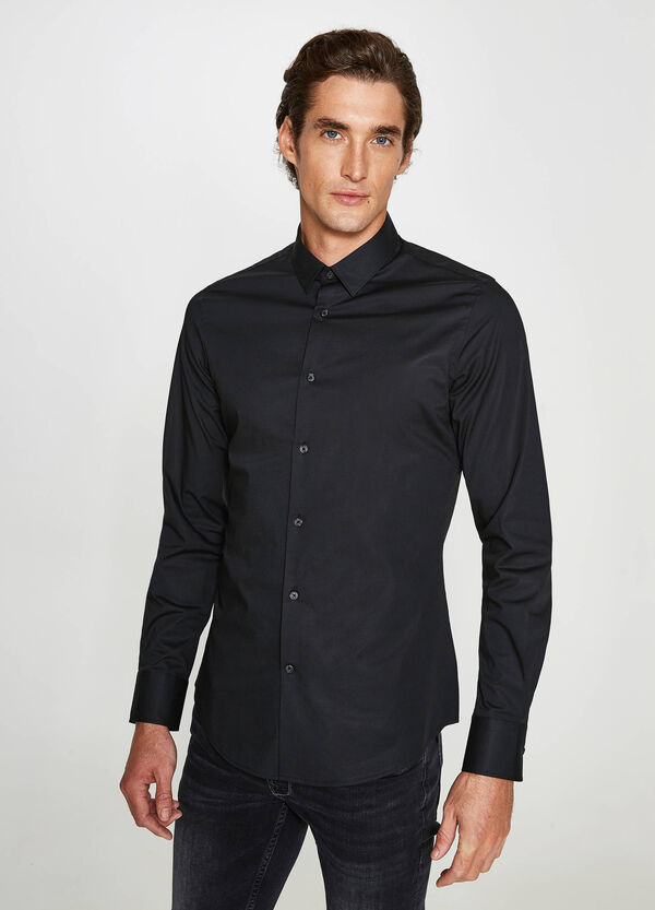 Camicia formale custom fit cotone stretch