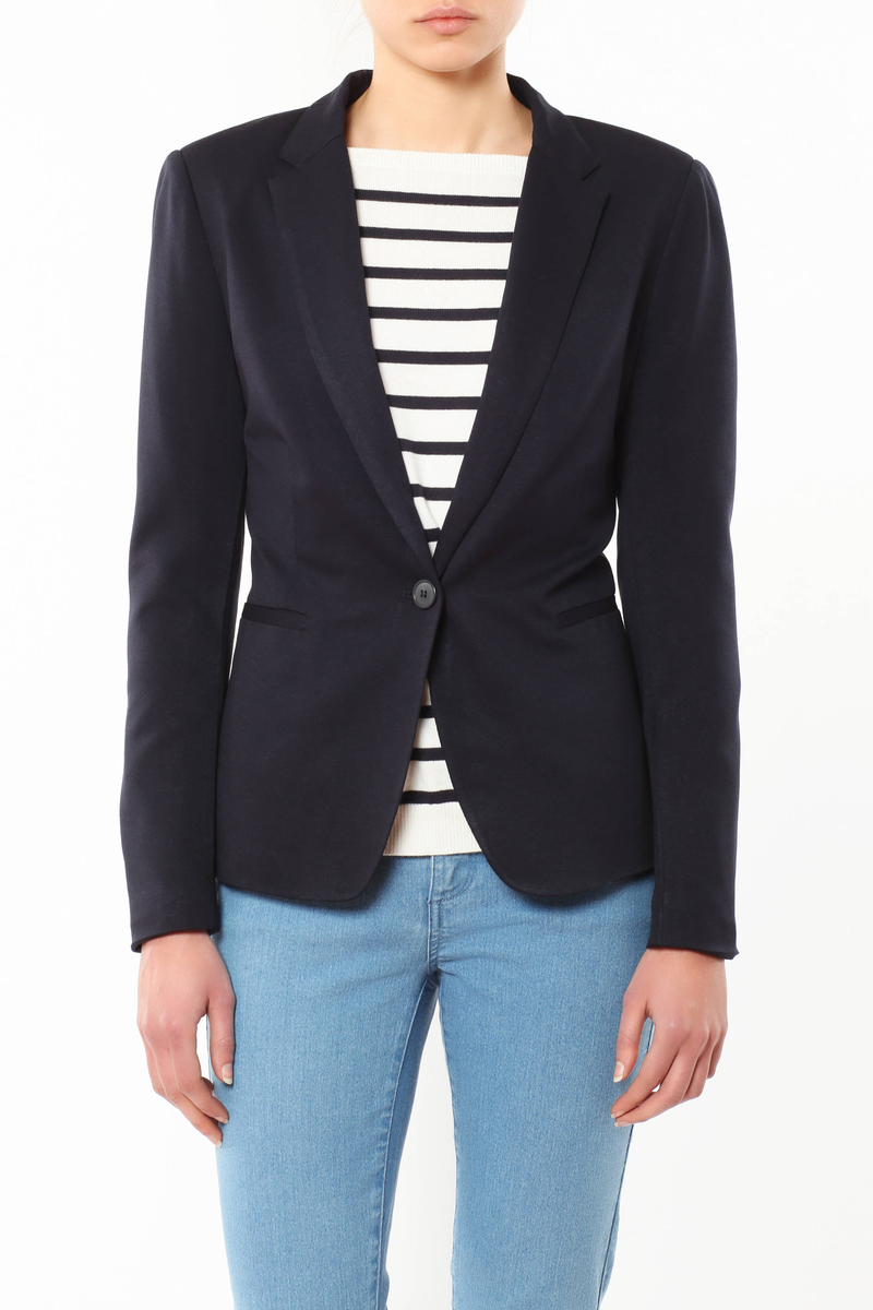 Jacket with lapels image number null