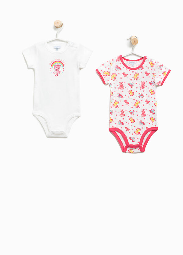 Two-pack organic cotton bodysuits with unicorns | OVS