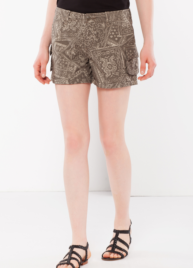 Cargo shorts with zip image number null
