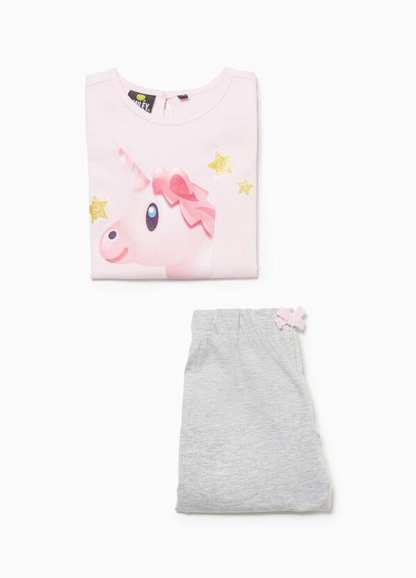 Pyjamas in 100% cotton with unicorn print