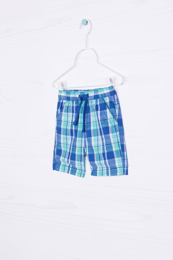 Bermuda shorts in 100% cotton with check pattern