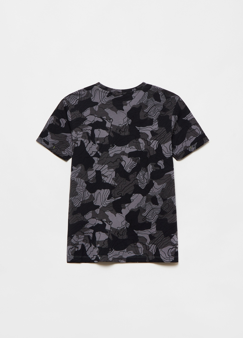 Cotton T-shirt with all-over print image number null