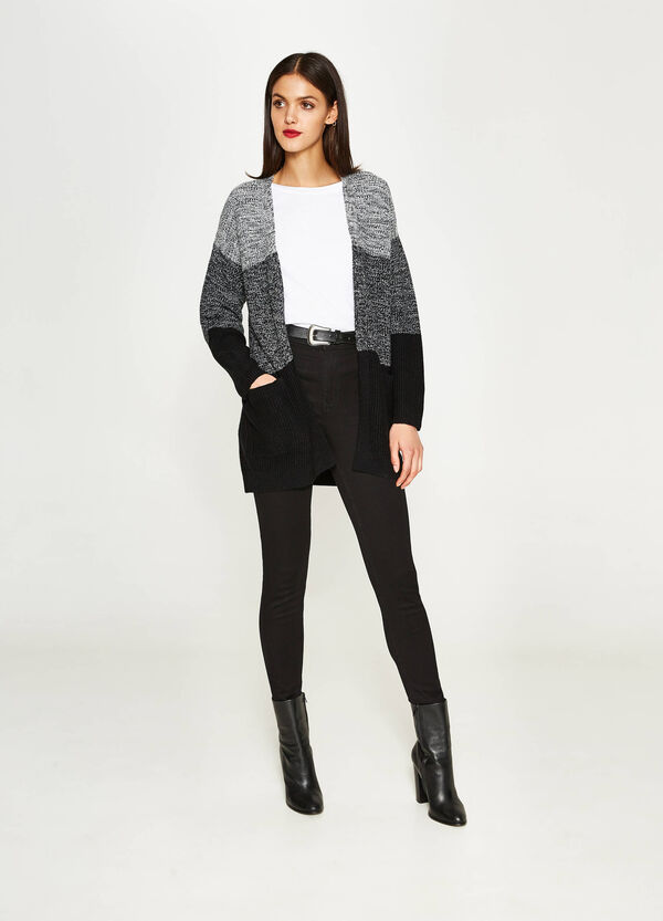 Striped knitted cardigan | OVS