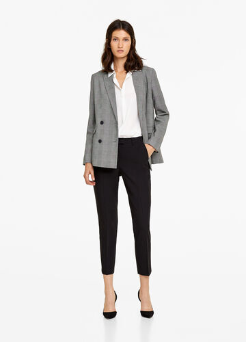 Stretch formal trousers with crease