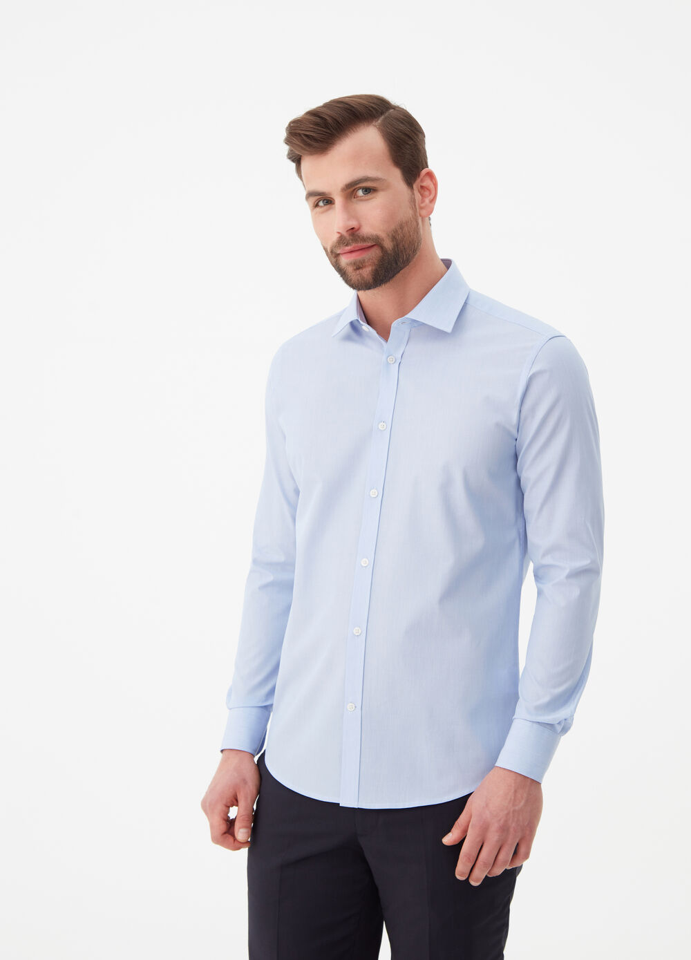 camicia regular fit colletto alla francese