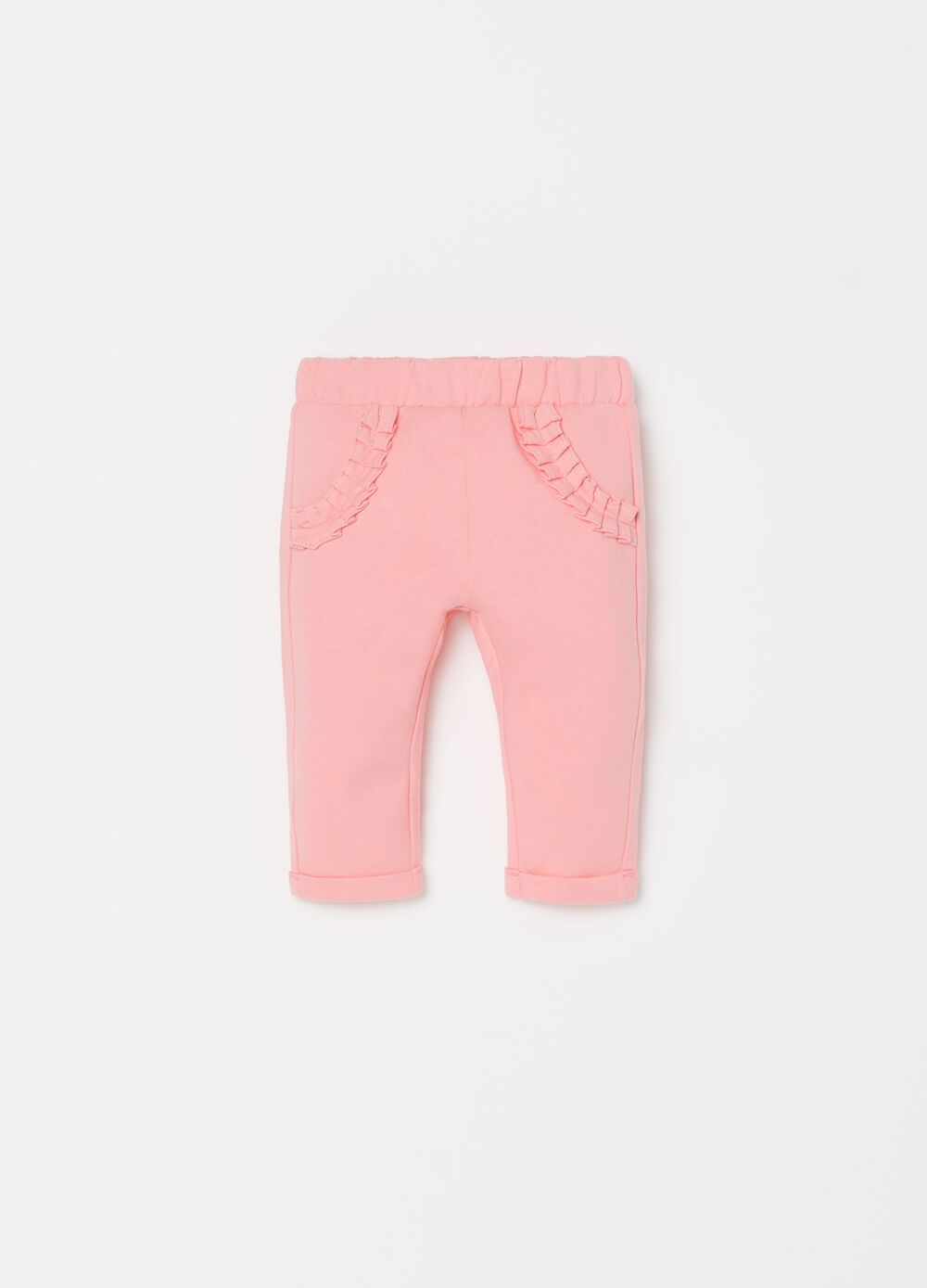 Leggings in biocotton tasche e rouches