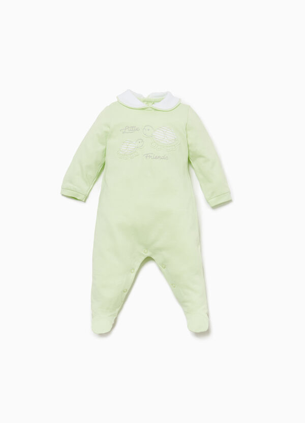 100% cotton onesie with turtles patch