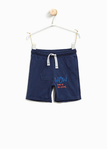 Cotton Bermuda shorts with pouch pocket