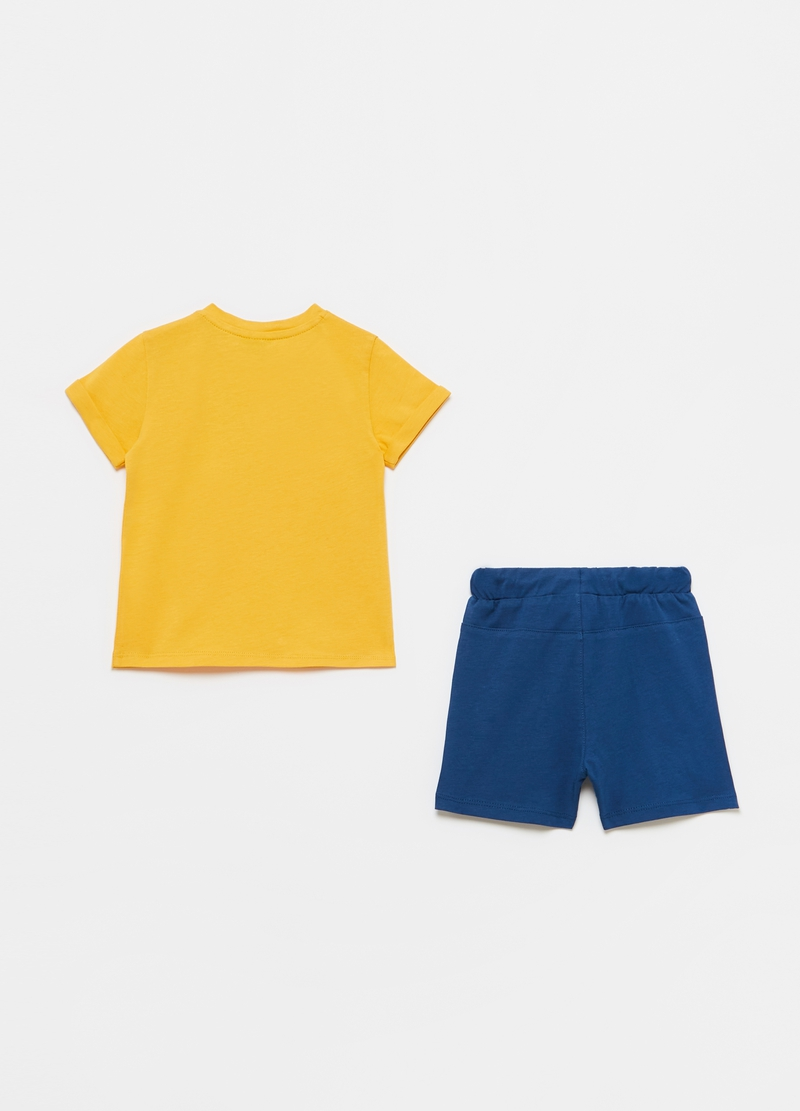 Cotton T-shirt and shorts jogging set image number null