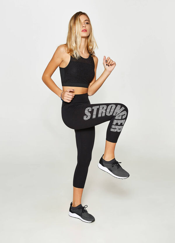 Leggings crop in cotone stretch | OVS