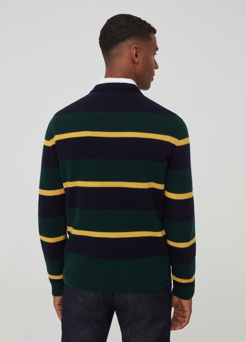 PIOMBO patterned pullover in 100% wool image number null