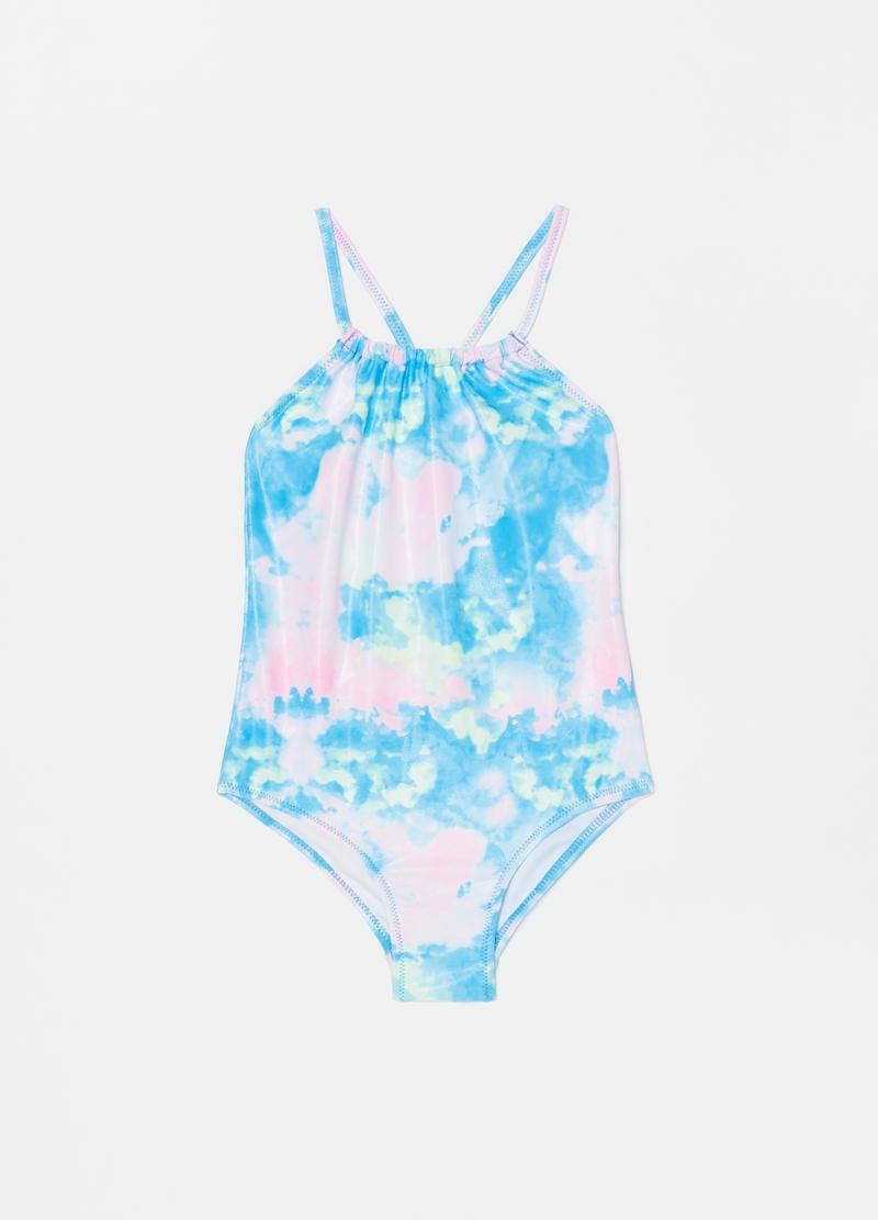 One-piece swimsuit with pattern image number null