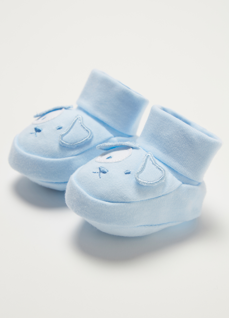 BCI baby shoes and hat with puppy image number null