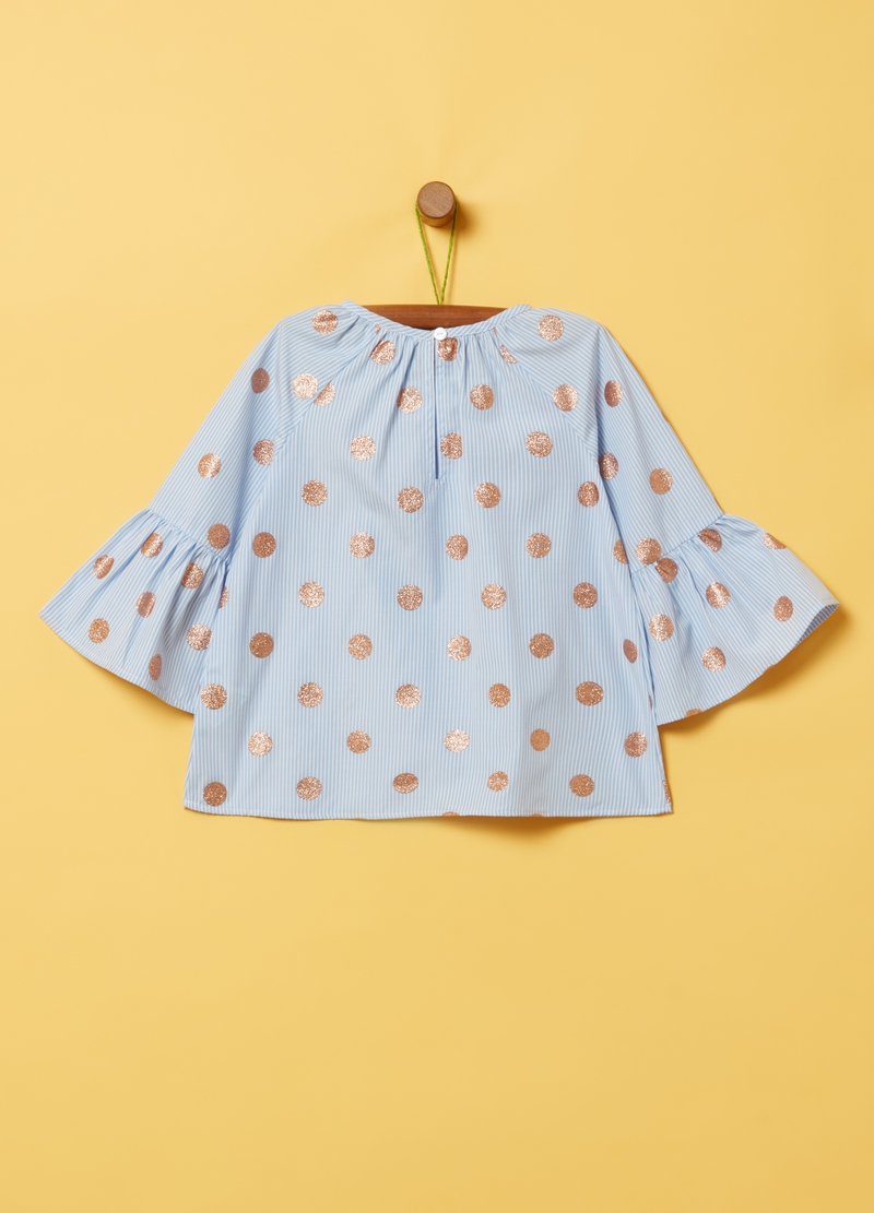 Glitter polka dots and stripes blouse image number null