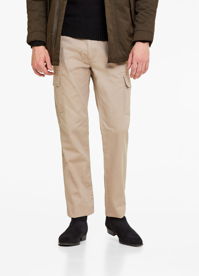 Pantaloni regular fit cargo cotone