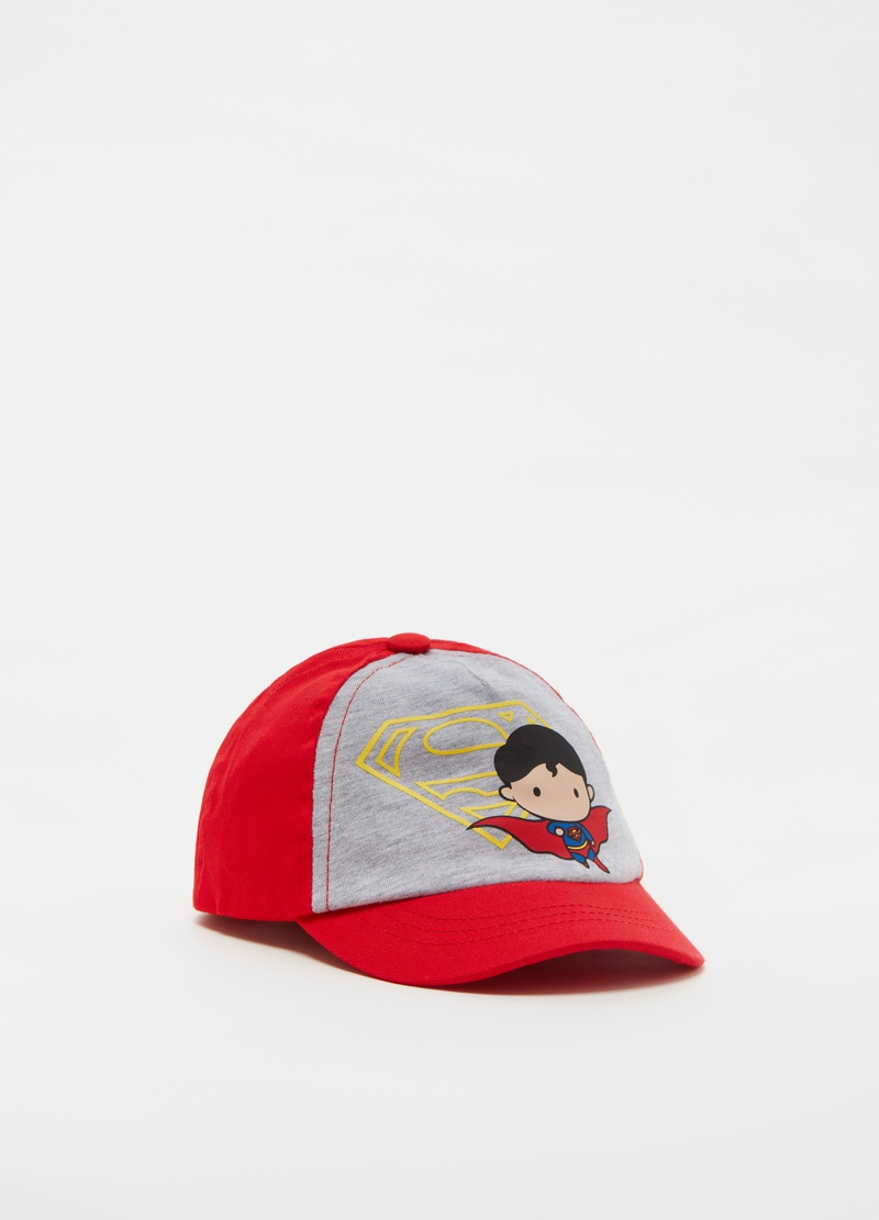 Cotton baseball cap with Superman print image number null