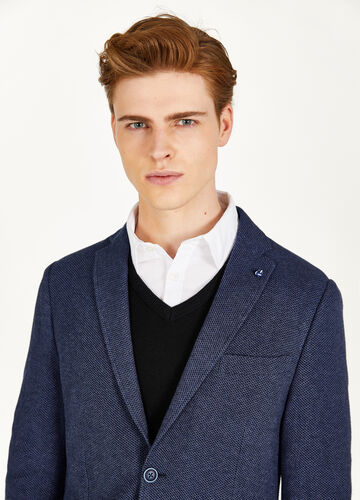 Micro patterned jacket in 100% cotton
