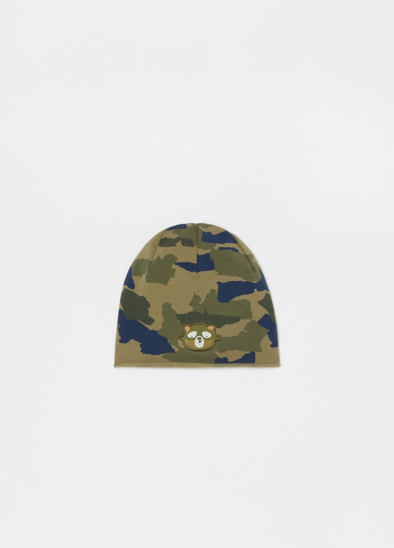 French terry camouflage hat image number null